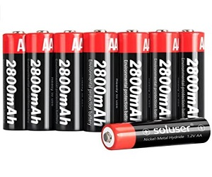 AA Batteries Rechargeable 2800mAh High-Capacity