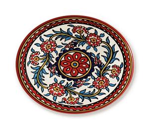 Red West Bank Platter
