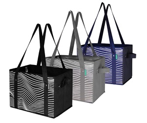 Reusable Grocery Bags Set Shopping Box