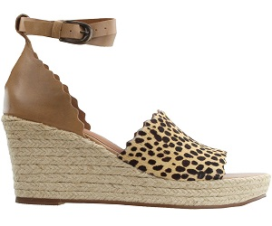 Roma Leopard Espadrille Wedge Sandals