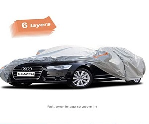 6 Layers, Waterproof Car Cover with Zipper Door