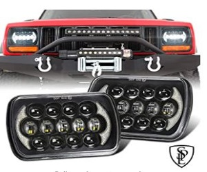 Led Headlights with DRL Compatible with Jeep Wrangler