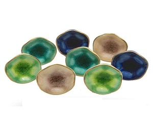 Set of 8 Mixed Colour Ceramic Jordan Crackle Knobs