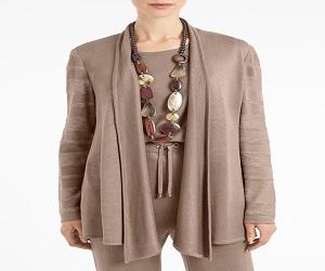 Shawl Collar Sheer Sleeve Knit Cardigan