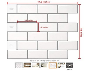 Sheet Peel & Stick Tile for Kitchen Backsplash