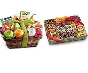 Snacks Gift Basket & With Sympathy Chocolate