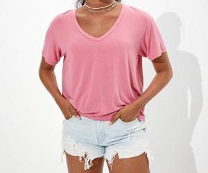 Soft & Sexy V-Neck T-Shirt For Women