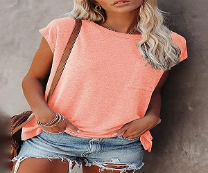 Solid Color Short Sleeve Round Neck T-shirt