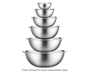 Stainless Steel Mixing Bowl Set + Extra 5% Off