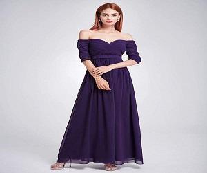 Neckline Maxi Bridesmaid Dress