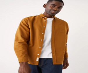 The Jasper Good Cotton Oxford Shirt in Mustard