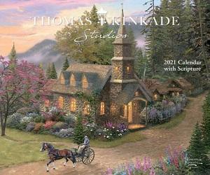 2021 Thomas Kinkade Studios Deluxe Wall Calendar with Scripture