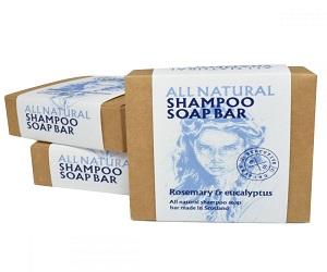 Three Rosemary and Eucalyptus All Natural Shampoo Bars