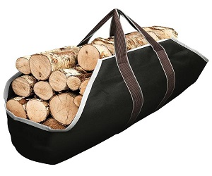Large Canvas Log Tote Bag