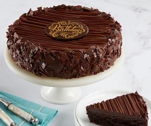 Triple Chocolate Enrobed Brownie Cake