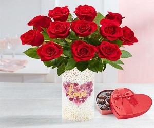 Two Dozen Romantic Red Roses