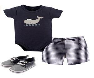 Unisex Baby Shorts and Shoe Set