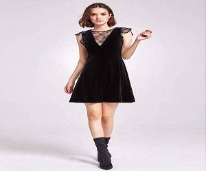 Velvet Cap Sleeve Party Dress