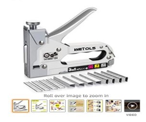 Heavy Duty Staple Gun For Carpentry, Decoration & Furniture,