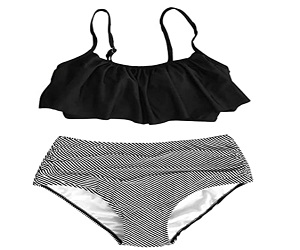 Womens Falbala Bikini Set