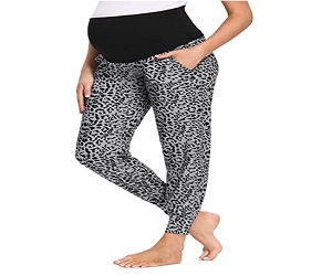 Womens Maternity Pants Stretchy Comfy Lounge