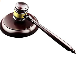Wooden Gavel And Block For Lawyer Judge