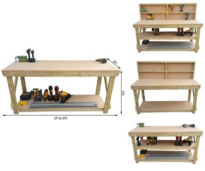 Wooden MDF Top Workbench