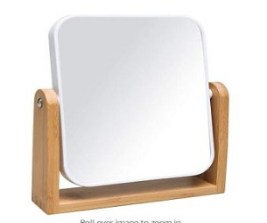 Vanity Makeup Mirror with Natural Bamboo Stand
