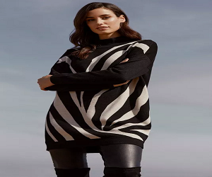 Zebra Knit Tunic