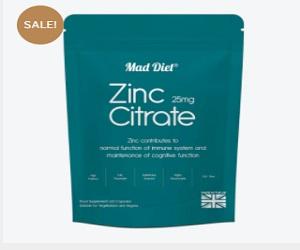 Zinc Citrate 25mg 60 Capsules