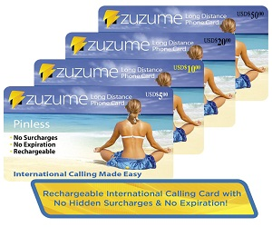 Zuzume Domestic And International Calling Card
