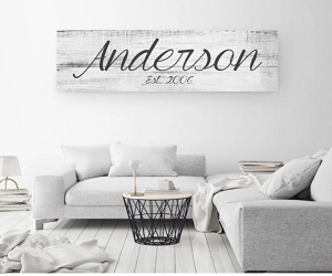 BIG FAMILY NAME SIGN - A PERSONALIZED