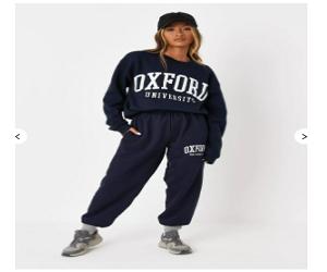 navy co ord oxford university oversized joggers