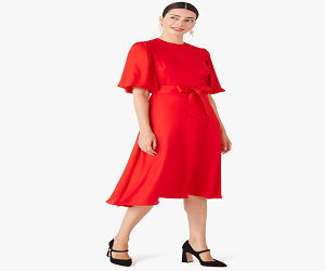 silk twill matinee dress